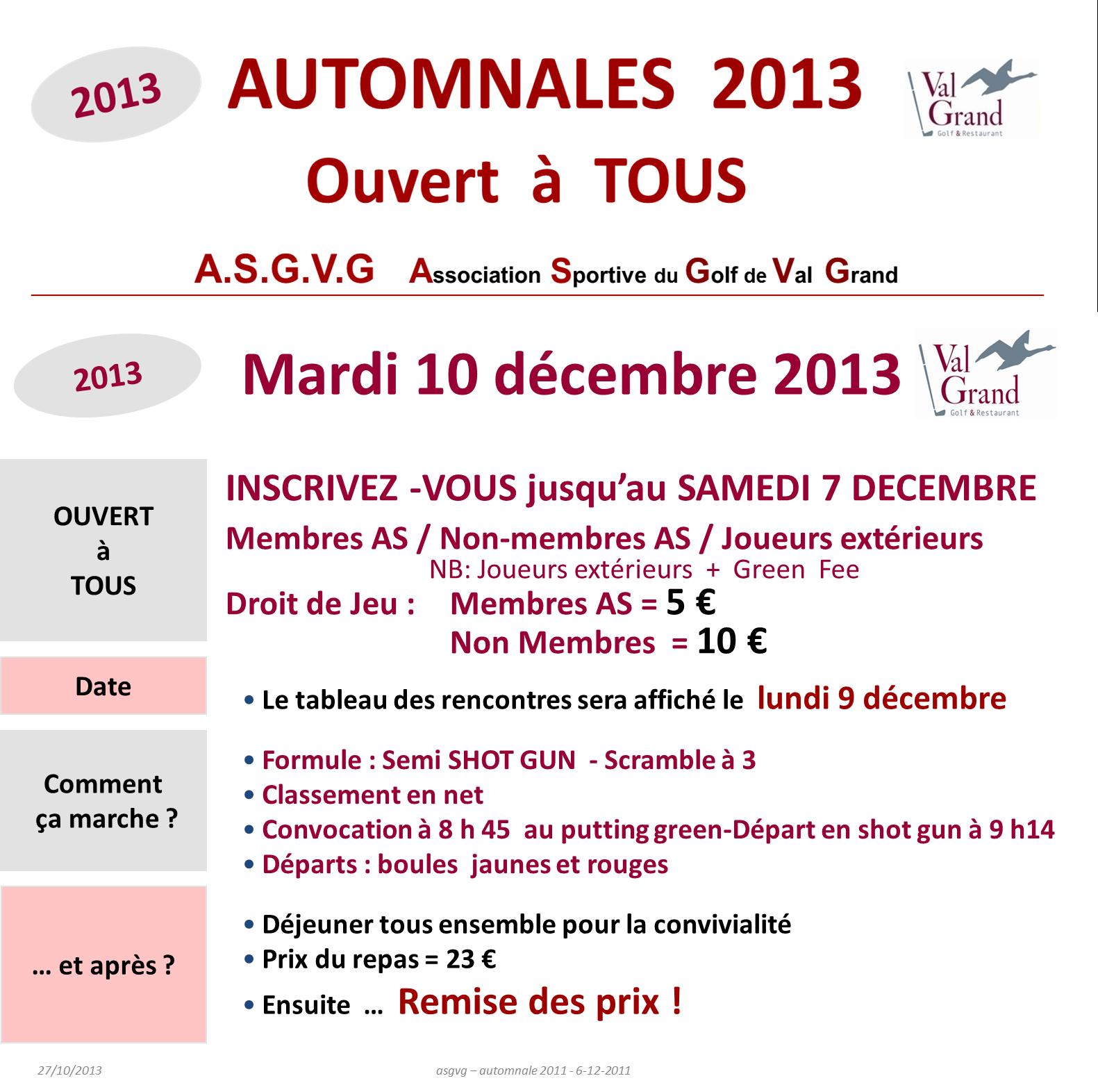 Automnales Dec 2013