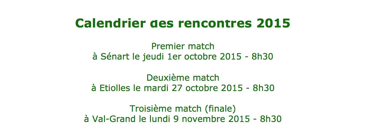 Triangulaire 2015 dates